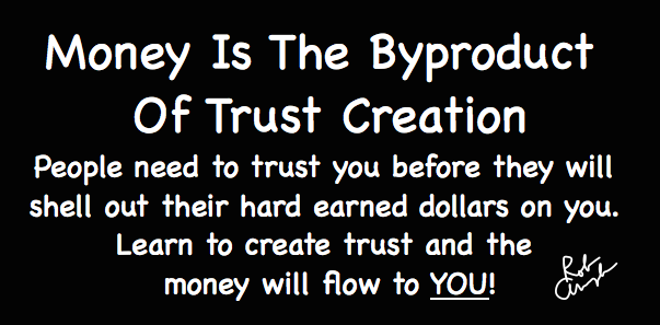 money is the byproduct of trust creation