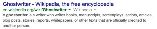 Wikipedia Ghostwriter