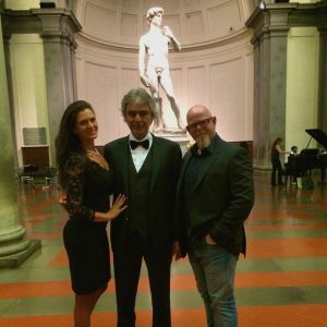 Andrea Bocelli and Steve Sims