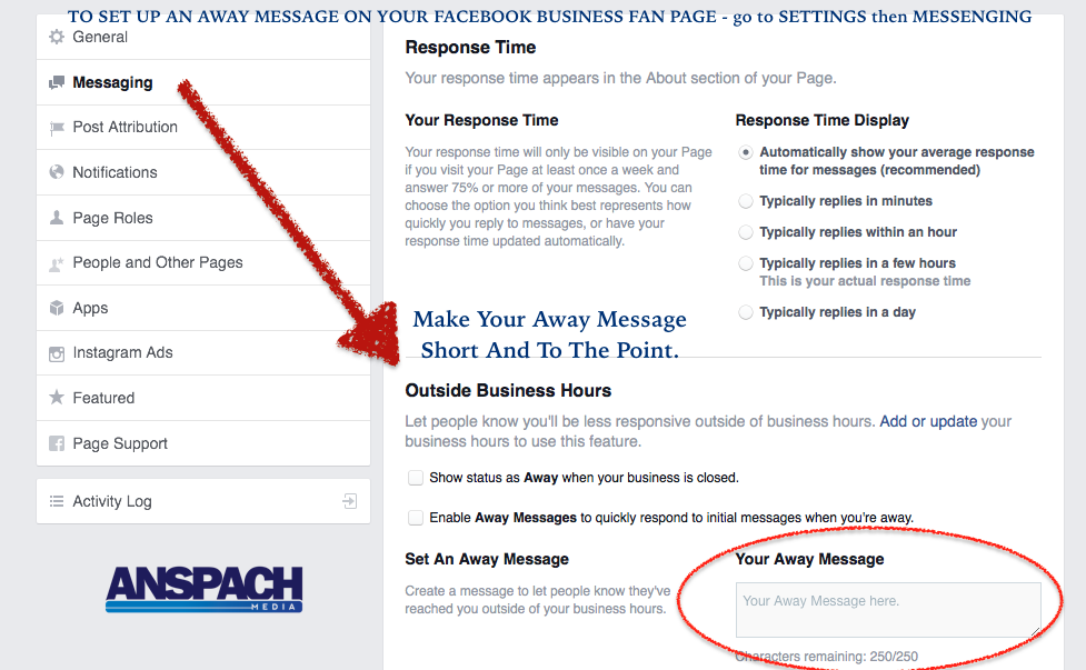 Facebook Away Message