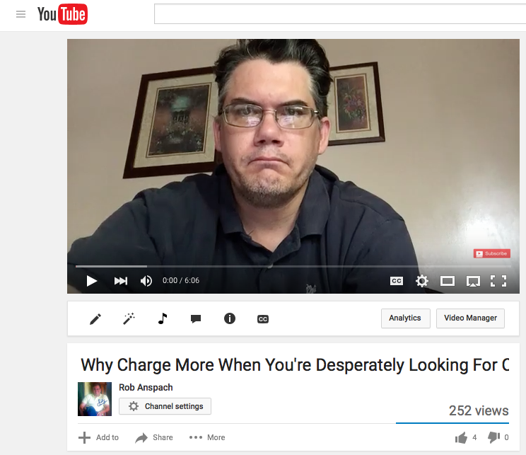 Embedding YouTube Videos Step 1