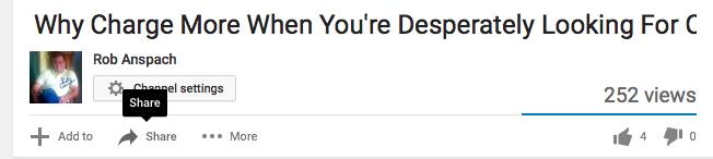 Embedding YouTube Videos Step 2