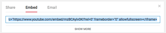 Embedding YouTube Videos Step 4