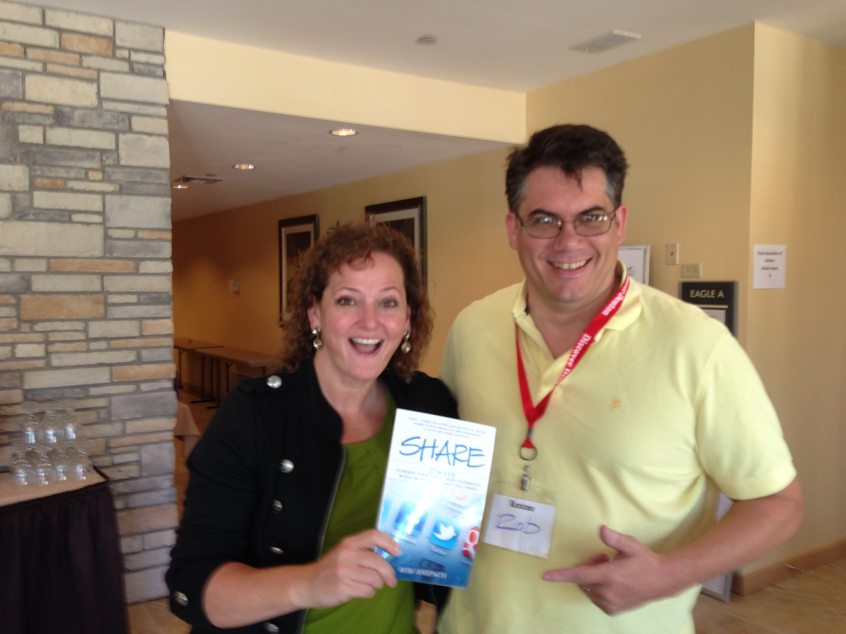 Rob Anspach with Elizabeth McCormick