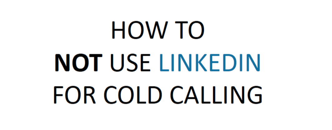 LinkedIn Is Not To Be Used For This Purpose