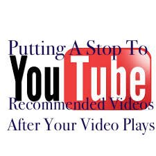 Stopping YouTube Recommended Videos On Your Website