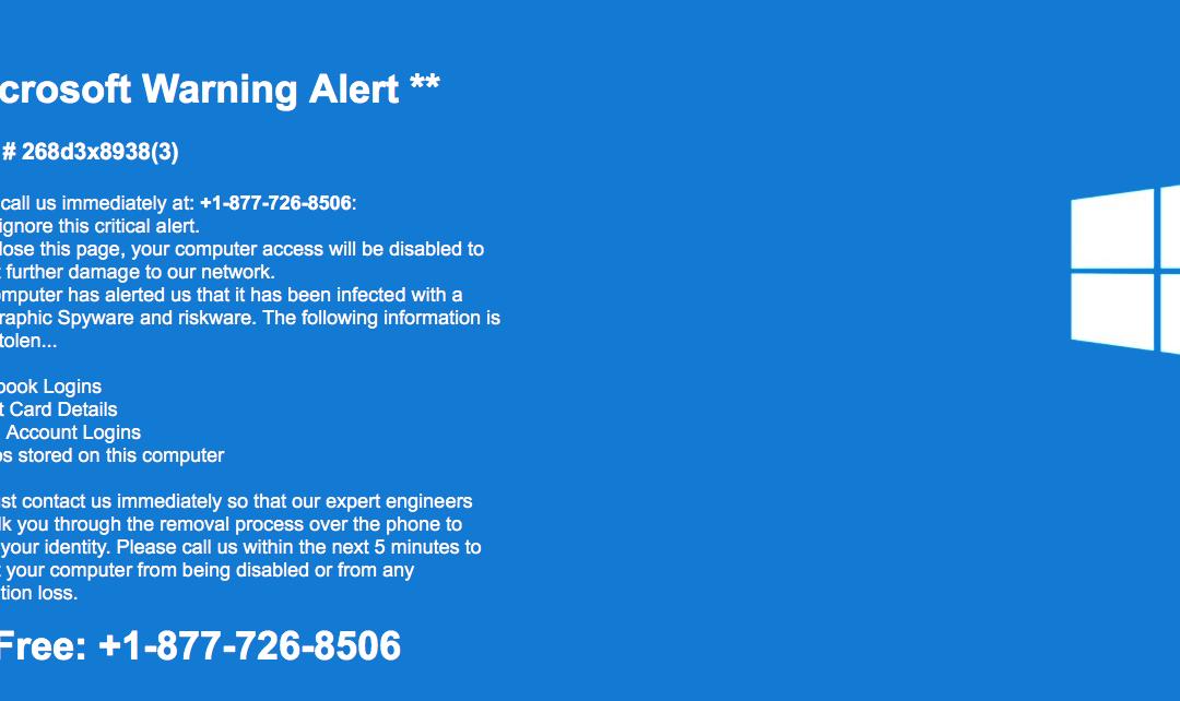 Microsoft Warning Alert Scam