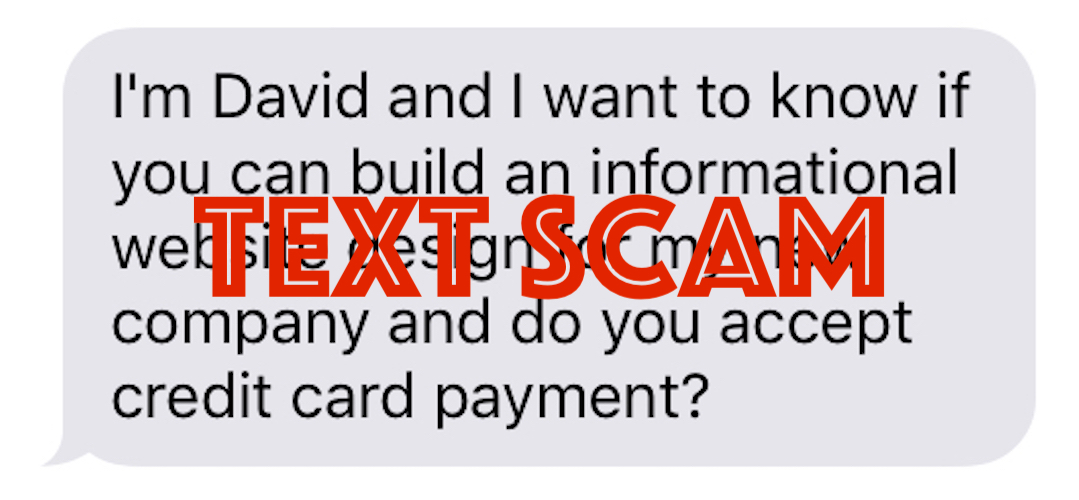 Do You Accept Credit Cards Text Scam