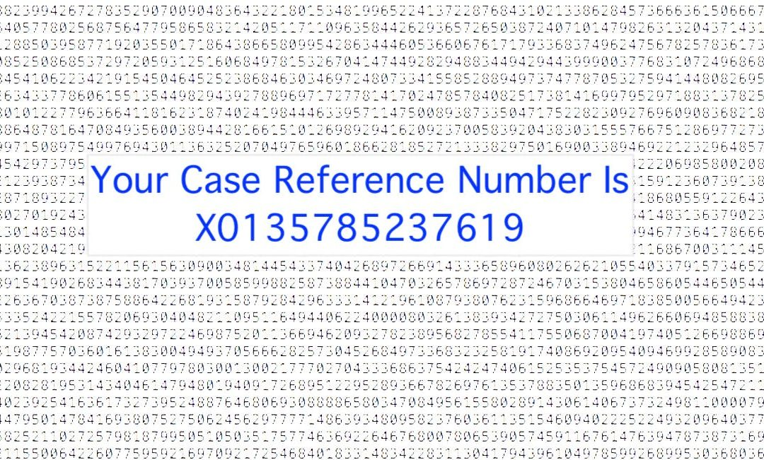 Why The Reference Number